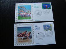 FRANCE - 2 enveloppes 1er jour 1999 2004 (europa) (cy47) french