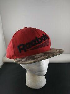 REEBOK Wool Red Style trucker snapback hat cap *X