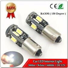 2x CANBUS BAX9s 64132 H6W 10SMD 5730 LED parking lamp Light Bulb White 6000K  DC