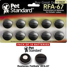 Pack 10 Replacement Battery for PetSafe RFA-67 Fence Bark Training Collar Coin