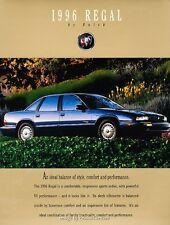 1996 Buick Regal and Gran Sport Original Car Sales Brochure Catalog
