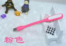 Flexible Mini USB LED Light Lamp for Keyboard Reading Laptop Notebook Pink HGF