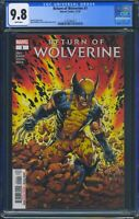 Return of Wolverine 1 (Marvel) CGC 9.8 White Pages 1st full app of Persephone