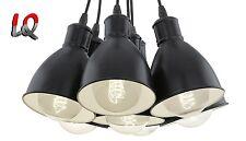 EGLO PRIDDY 49467 Pendelleuchte 7-flammig schwarz 7x E27, auch für LED geeignet