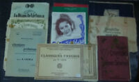 Lot 11 Partitions classiques Mendelsohn Grieg Lack chemia MENNESSON SHEET MUSIC