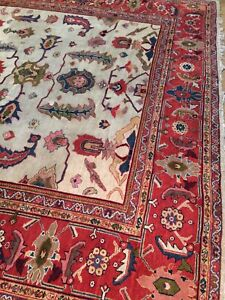 Antique Old Used Per Sian Handmade Ziegler Wool  Rug Carpet,Size:13.23 By 11 Ft