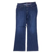 Style & Co Jeans Women 14W 34x32 Bootcut Stretch Denim Flap Pockets Embellished