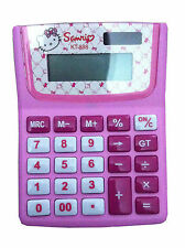 Hello Kitty School Girls 12 DIGIT ELECTRONIC Calculator Kids Stationery Gift