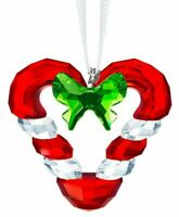 Swarovski Crystal Joyful Candy Cane Heart Ornament New for 2019 #5403314