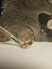 GENUINE / SOLID 750 YELLOW GOLD LADIES NATURAL SAPPHIRE & DIAMOND RING