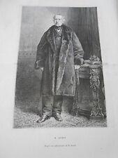 Engraving 1874 - Portrait of M. Guizot