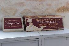 Antiguo expositor tienda de comestibles Macarrones Medio SUPRALTA Brusson Joven