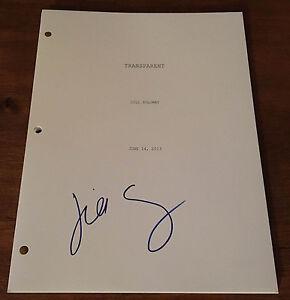 GFA Transparent Director JILL SOLOWAY Signed Full TV Series Script AD2 COA