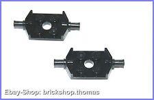 Lego 2 x Doppel Achse schwarz (2 x 2) - 6157 - Wheels Holder Black - NEU / NEW