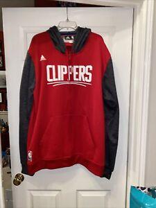 Los Angeles Clippers Adidas Men's Climawarm 3XL Full Zip Hooded Sweatshirt EUC