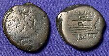 ROMAN REPUBLIC C. JUNIUS C. F. 149 BC AE AS 28.42 GRAMS JANUS PROW PEDIGREE 1916