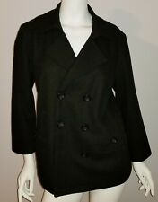 Motherhood Maternity Black Wool Blend Peacoat Jacket Size a Large L