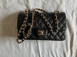 Chanel Classic Flap Black Handbag Medium Size