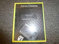 John Deere 717A & 727A Mini Frame Ztrak Mower Owner Operator Manual OMTCU18172