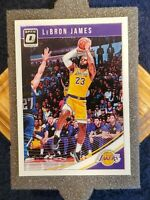 🔥LEBRON JAMES🔥2018-19 PANINI DONRUSS OPTIC #94 1ST LA LAKERS OPTIC CARD⚡MINT⚡
