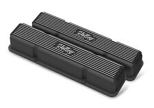 Holley 241-245 SBC Finned Valve Covers w/o Emissions Provisions Black Vintage
