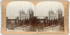 Stereo, Keystone View Company, B. L. Singley, Mormon Temple and Tabernacle, Salt