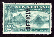 NEW ZEALAND OFFICIAL #O29 2sh BLUE GREEN, 1907, VF, OG-HINGED