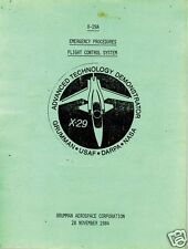 Grumman X-29 Historical Advanced Experimental Manuals archive NASA X plane RARE