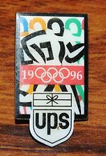 Olympics 1996 UPS Collectible Colorful Pin-Back Gold Tone Brooch / Lapel!