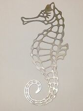 "Metal Wall Art Seahorse 24"" high"