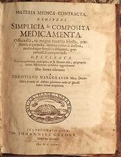 MARGGRAF Christiaan (Christiano Marggravio). Materia medica contracta... 1681.