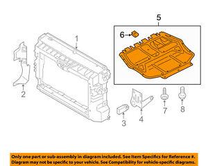 VW VOLKSWAGEN OEM Passat Under Radiator/Engine-Splash Shield Cover 561825237D