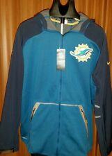 $200 Nike Nfl Miami Dolphins Onfield Apparel Therma Fit Jacket Men New W/Tags!