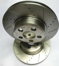 PAIR FRONT SLOTTED & DRILLED DISC ROTORS: FORD TERRITORY TS TX GHIA (2004- ON)
