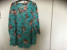 ladies blue floral top size 24 from george clothing