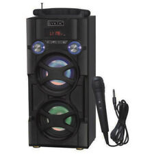 SYKIK BLUETOOTH RECHARGEABLE KARAOKE PARTY PA SYSTEM SPEAKER with MIC LED LIGHTS