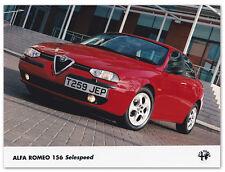 Alfa Romeo 156 Selespeed Press Release Photograph