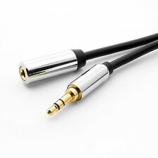 "6ft 3.5mm 1/8"" Male to Female M/F Stereo Audio Aux Cable Extension Gold plated"