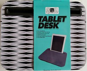 Tablet Laptop Lapdesk Travel On The Go Backpack School Black Gray White Pattern