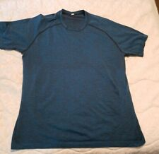 Men's Lululemon Blue Short Sleeve Athletic Running - Workout Shirt Size Xl