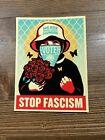 SHEPARD FAIREY Obey Giant Large Format Official Vinyl Art Sticker Stop Fascism