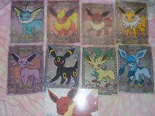 ot U Pokemon Center File Folder Set Eevee Glaceon Espeon Umbreon Lot of 9
