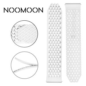 Noomoon LABB Loopless And Buckleless Rubber WHITE Watch Strap Band