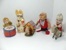 Lot of 5 vintage wind-up toys - Made in Japan
