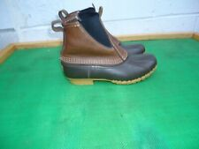 LL Bean Bean  Chelsea Brown Leather Duck Boot Women SZ#7.5 M