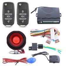 Quality one way car alarm system With remote keyless entry& flip key&Shock alarm