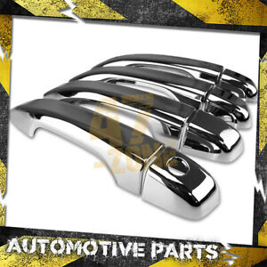For 2018-2020 Honda Accord Sedan 4 DR Chrome Door Handle Cover Overlays Cap Trim