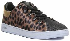 Guess Fl8Ch2Fap12 Charlez 2 Active Glitter Trainer In Leopard Size Uk 3 - 8