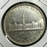 1939 CANADA SILVER DOLLAR  CROWN COIN