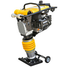 65hp Gas Jack Rammer Tamper Jumping Jumper Plate Compactor Vibratory With Wheel